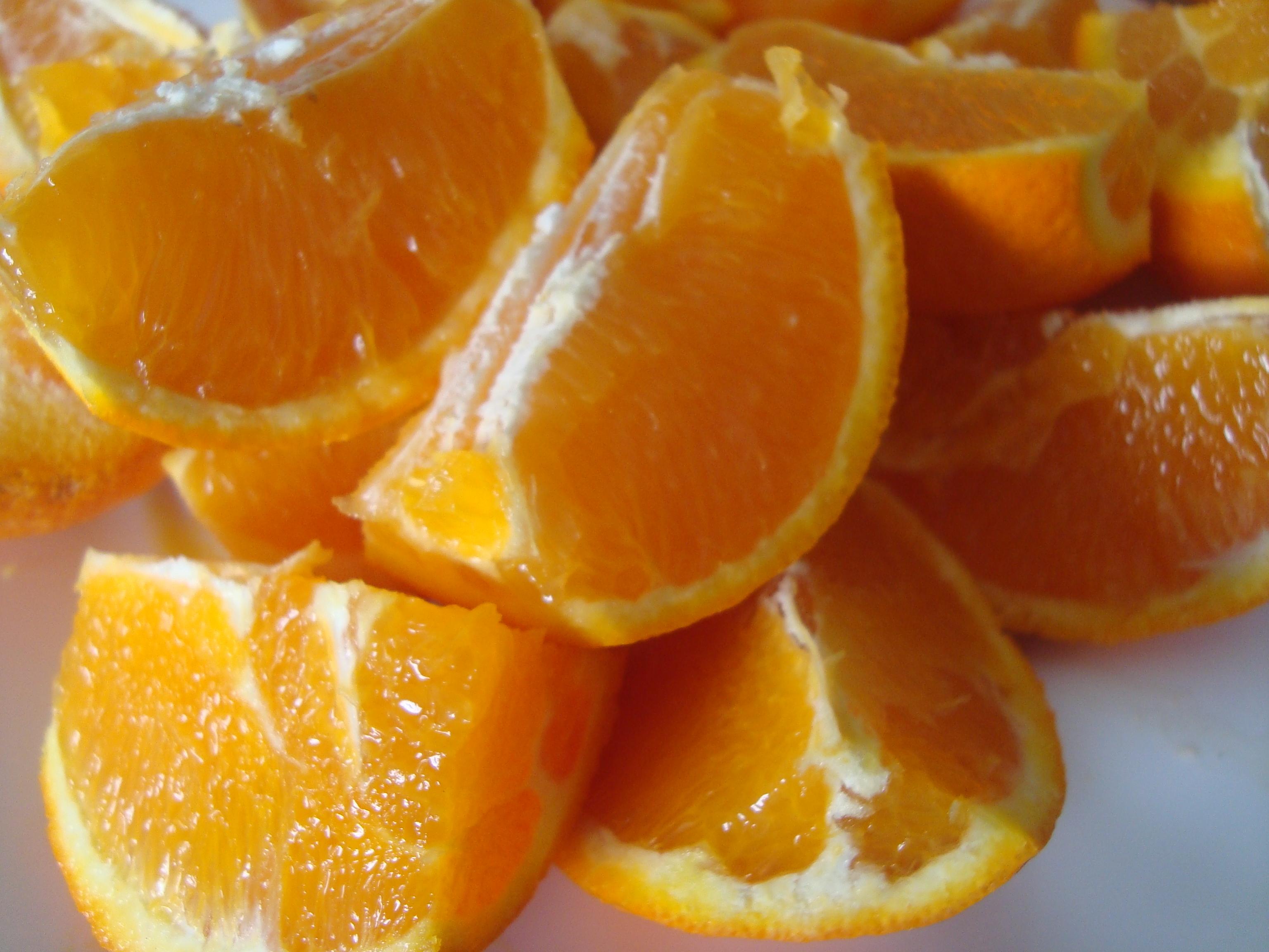 Resultado de imagen para naranja en gajos