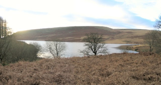 North end of Upper Lliw reservoir - geograph.org.uk - 95718