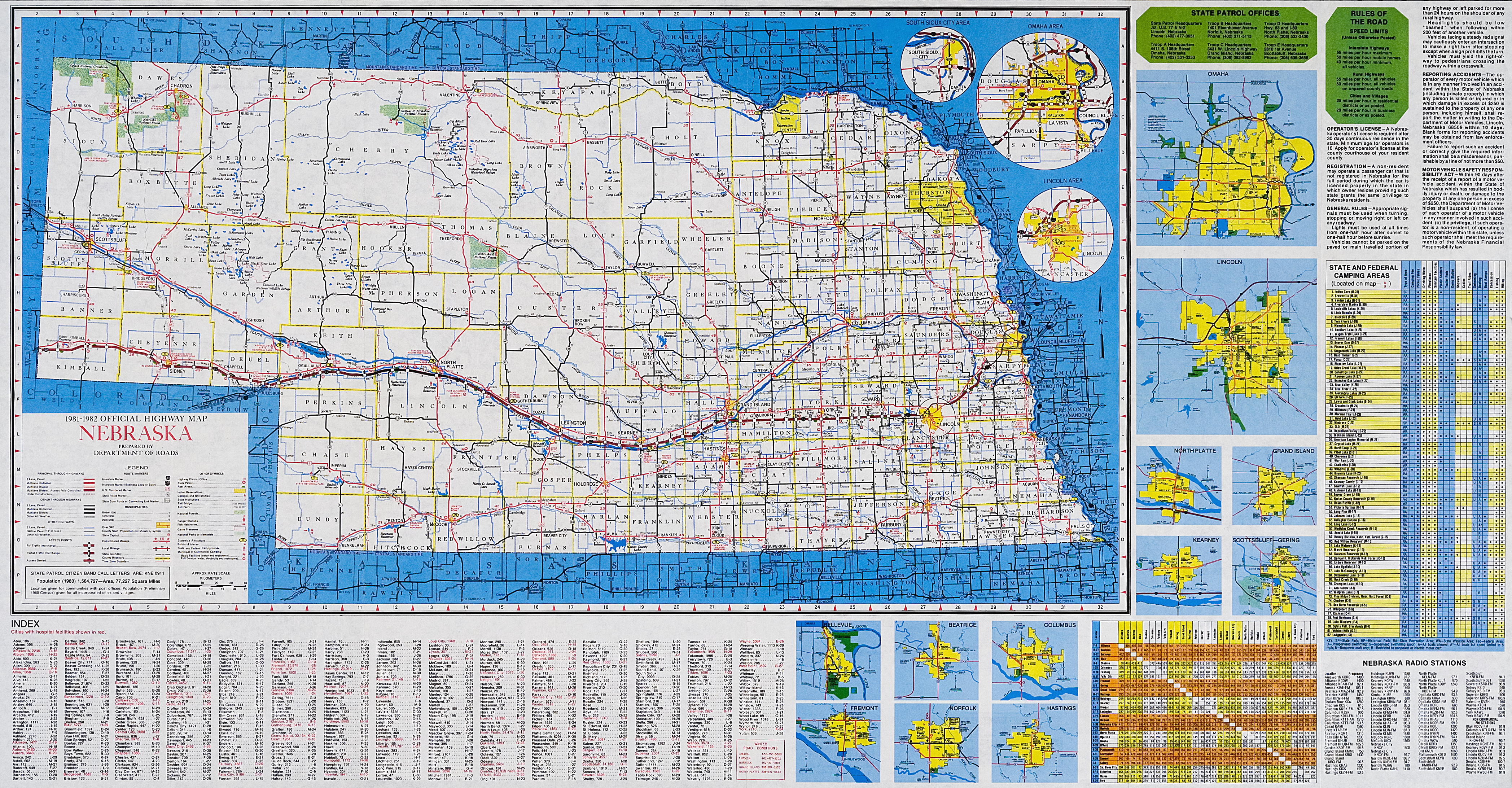 File:Official Map - Nebraska State Highway System (1981-1982).png ...