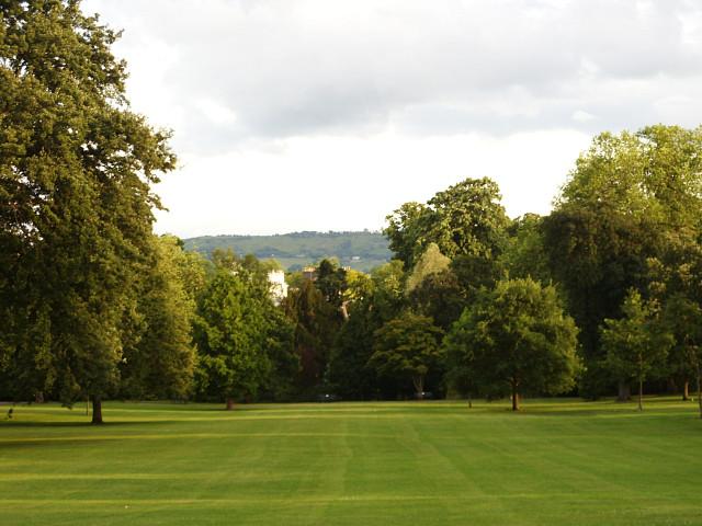 Part of Pitville Park from the terrace of Pitville Pump Room, Cheltenham - geograph.org.uk - 1363475