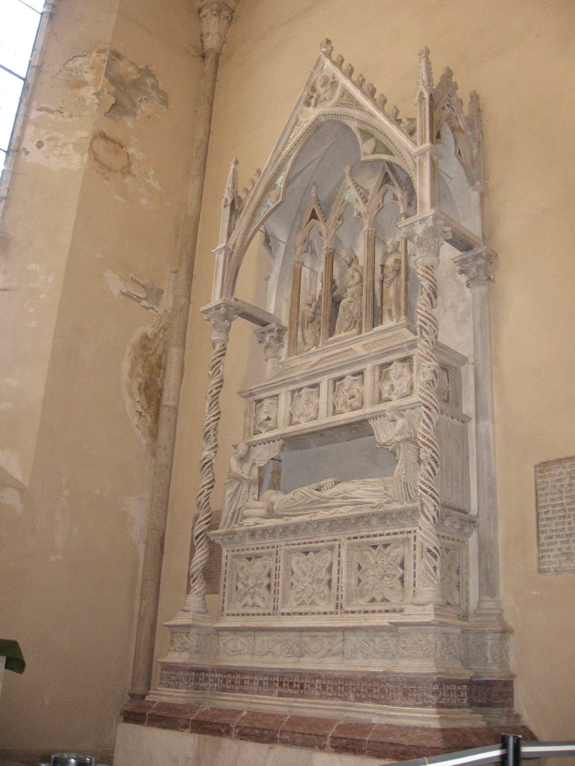 Sepulchral monument of Benedetto the Xith -  Cen. Sec. XIV - Perugia St Domenico
