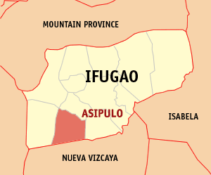 Map of Ifugao showing the location of Asipulo