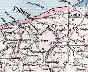 Pommern Karte Vor 1945.Landkreis Kolberg Körlin Wikipedia