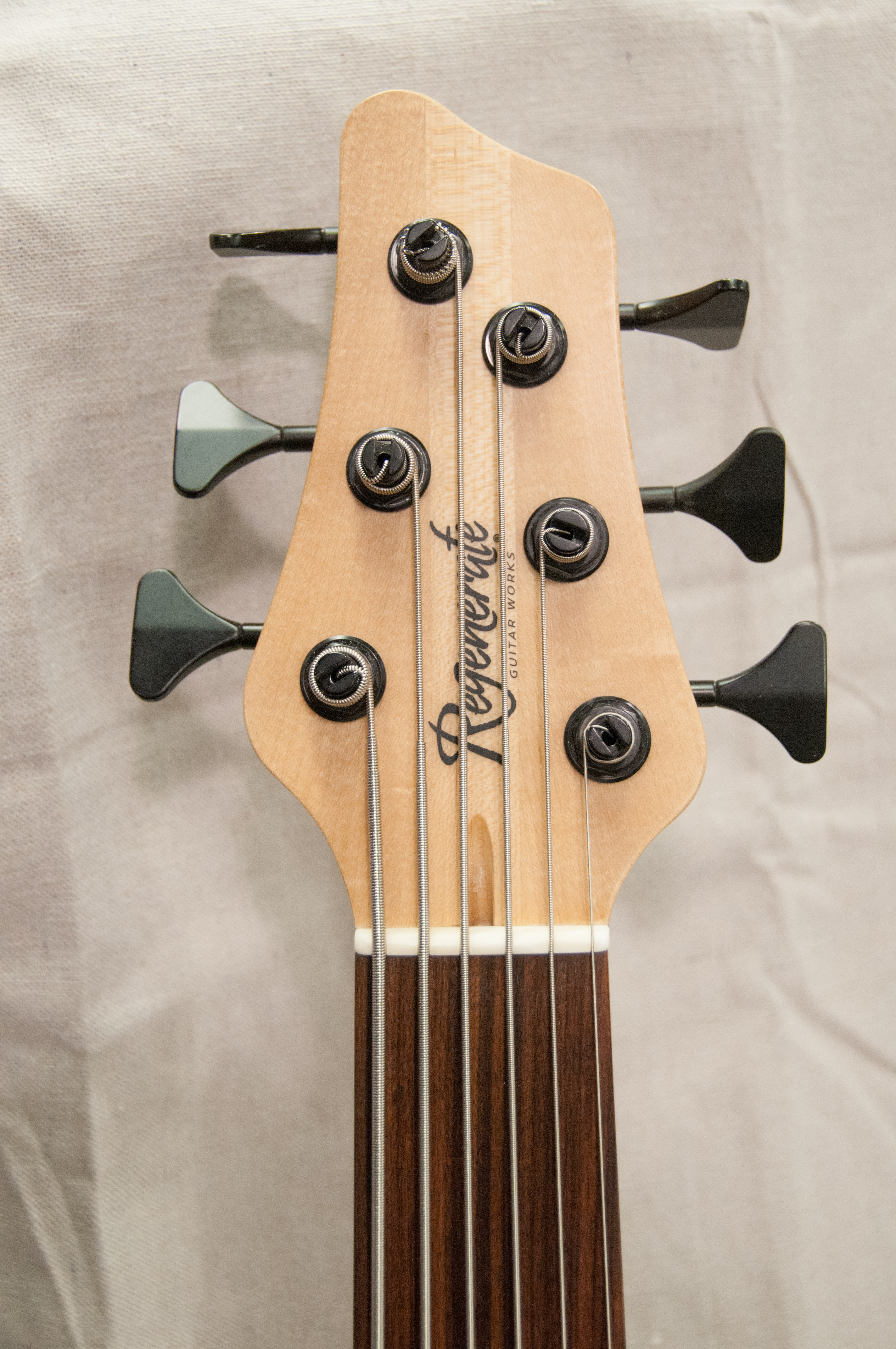 FileRegenerate Malibu Series 6 String Fretless Bass Headstock