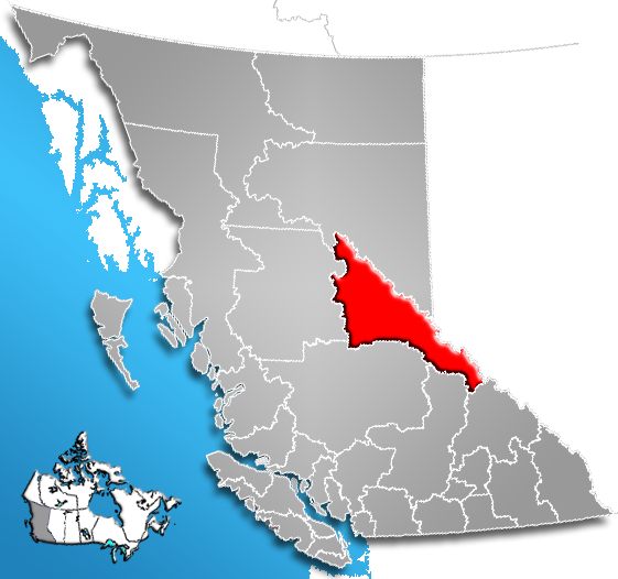 ファイル:Regional District of Fraser-Fort George, British Columbia Location.png