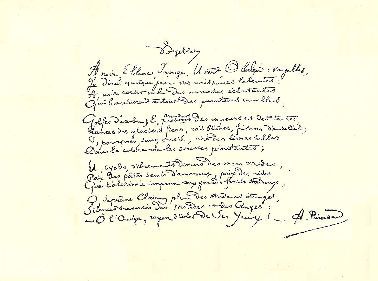 Voyelles Sonnet Wikipédia