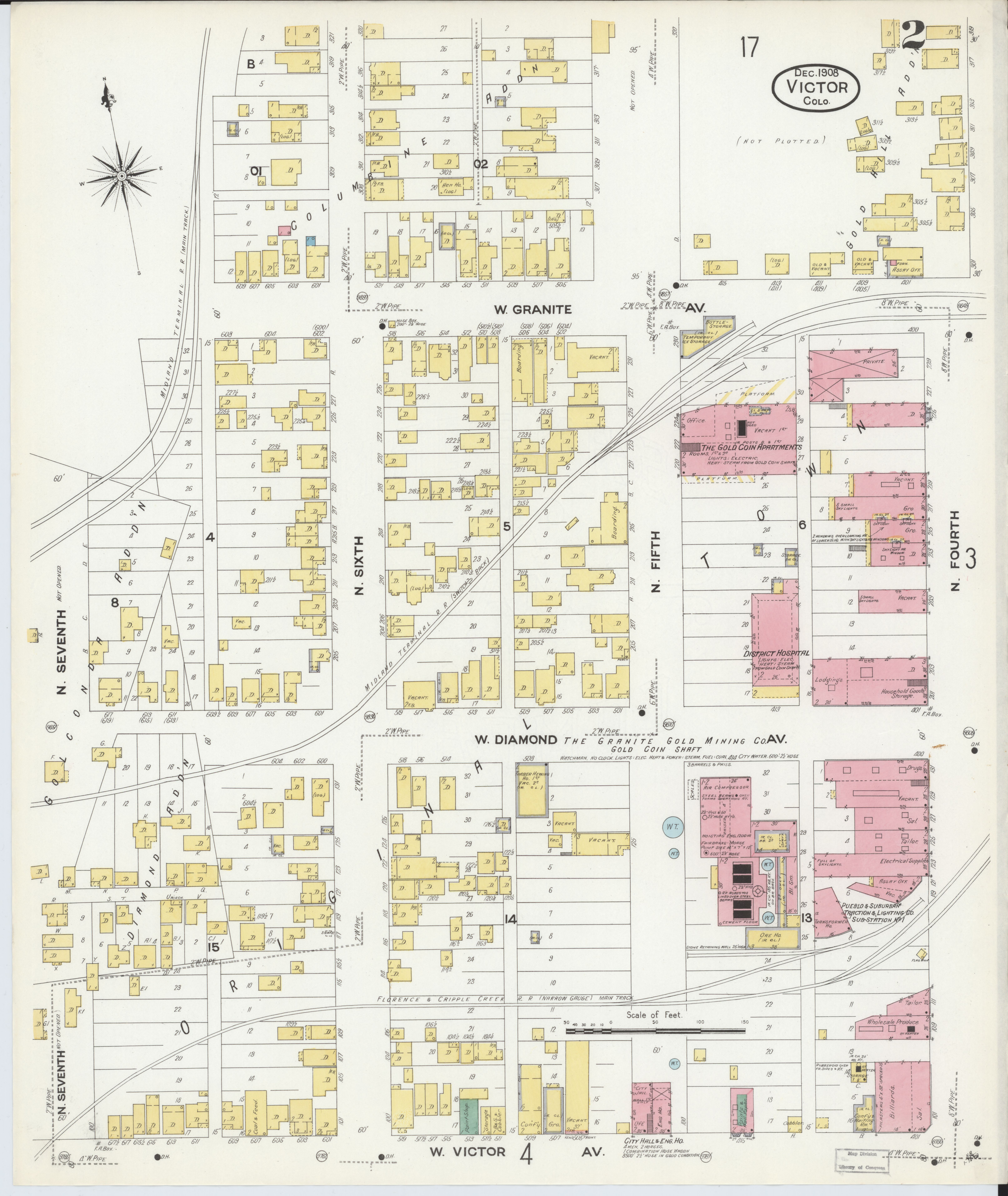 File Sanborn Fire Insurance Map From Victor Teller County Colorado