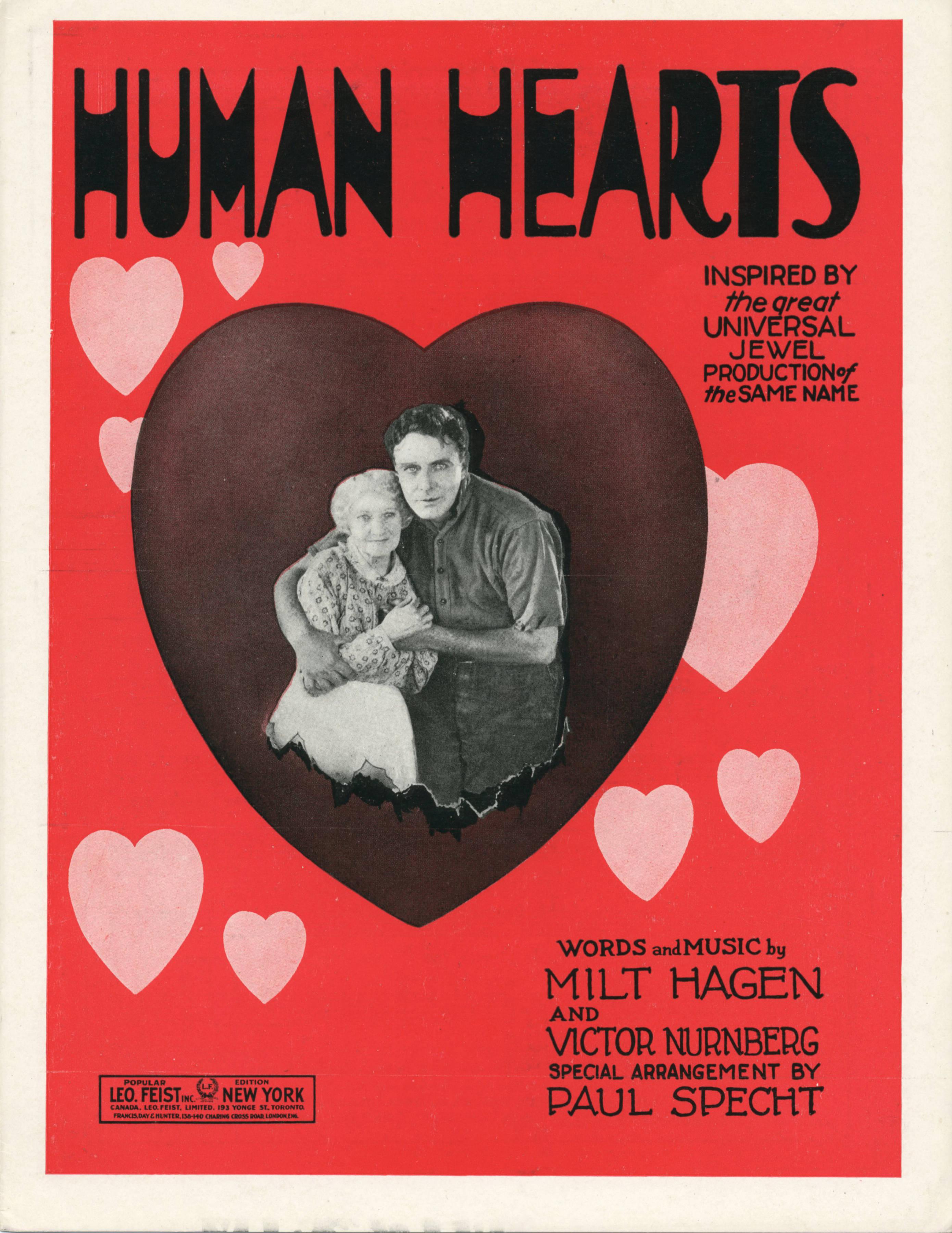 Human Hearts (film) FileSheet music cover HUMAN HEARTS FOX TROT BALLAD 1922jpg
