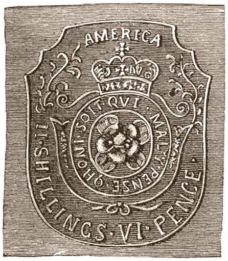 Stamp Act Seal vi pence