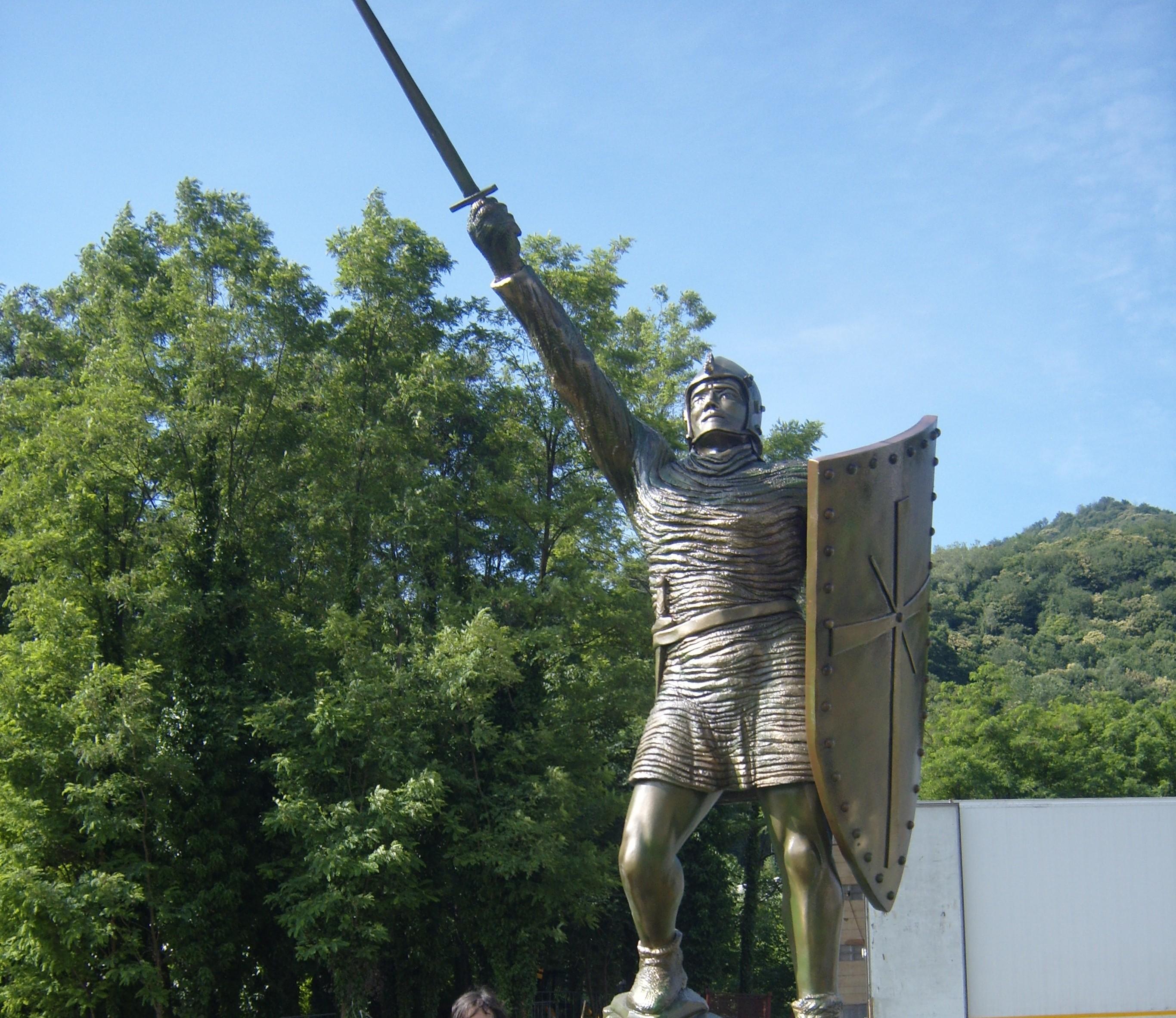 Statua di Alberto da Giussano a Pontida 2010