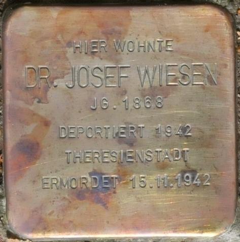 Stolperstein Schlossberg 10, Eisenach-Josef Wiesen-CTH.JPG