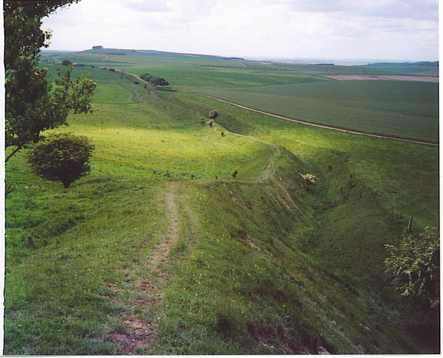 The Wansdyke, North-west of Tan Hill. - geograph.org.uk - 185617