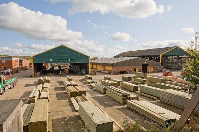 File:Timber yard of Travis Perkins builders merchants - geograph.org.uk - 1025761.jpg