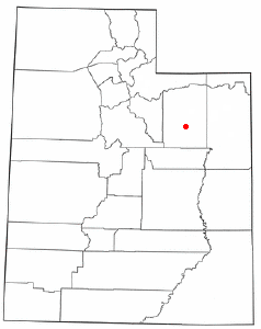 Location of Duchesne, Utah