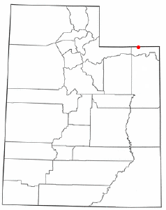 Location of Manila, Utah
