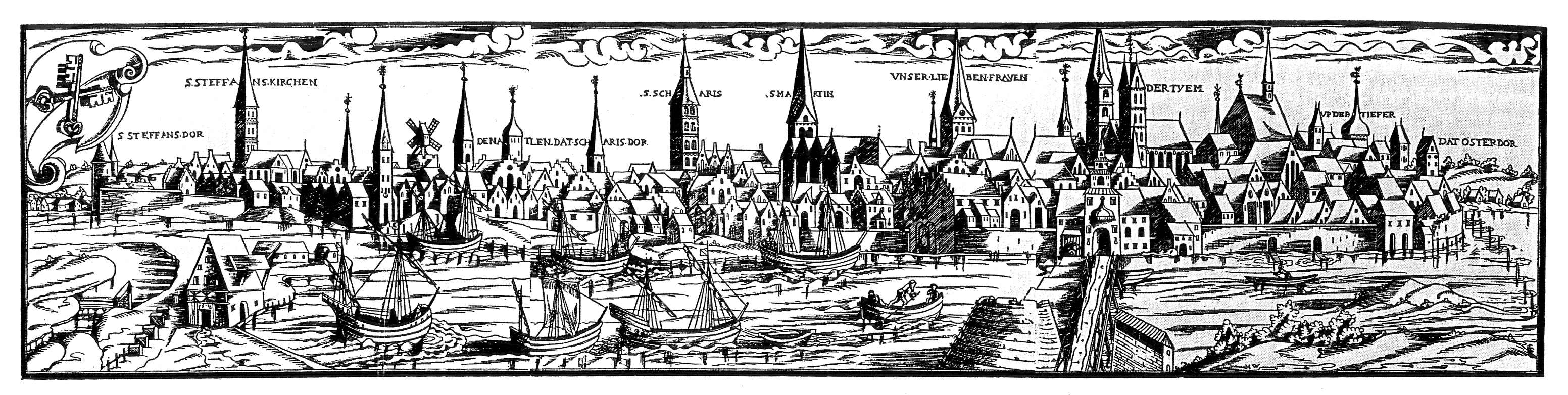 datei view of bremen in the 16th century hans weigel. Black Bedroom Furniture Sets. Home Design Ideas