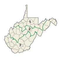 West Virginia districts in these elections
