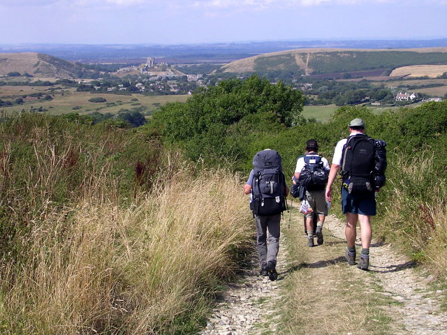 Walkers on the Purbeck Way - geograph.org.uk - 1027613