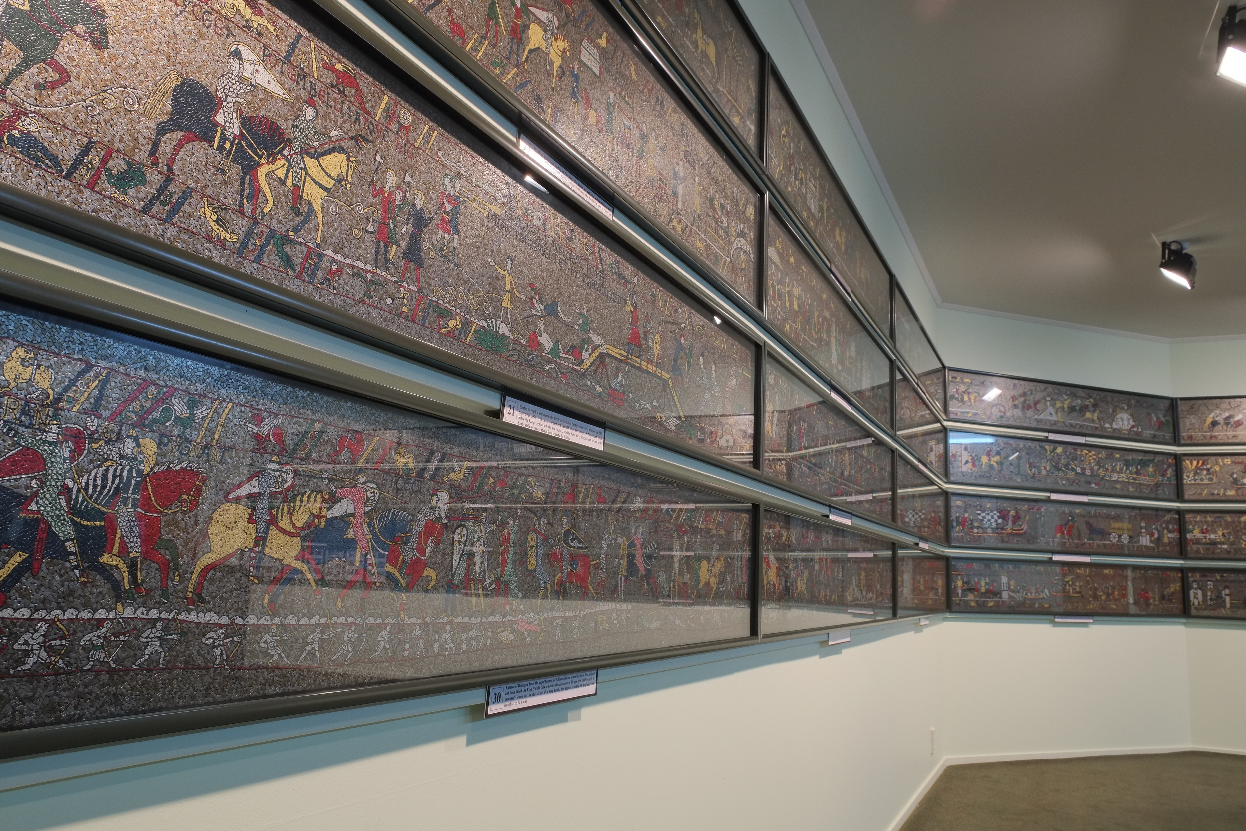 File 1066 Medieval Mosaic Bayeux Tapestry Sections Jpg Wikimedia