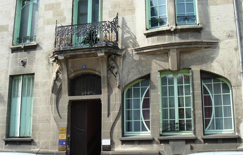 File 10 rue de ceyrat immeuble art d co porte d 39 entr e et rez de chauss wikimedia commons - Porte art deco ...