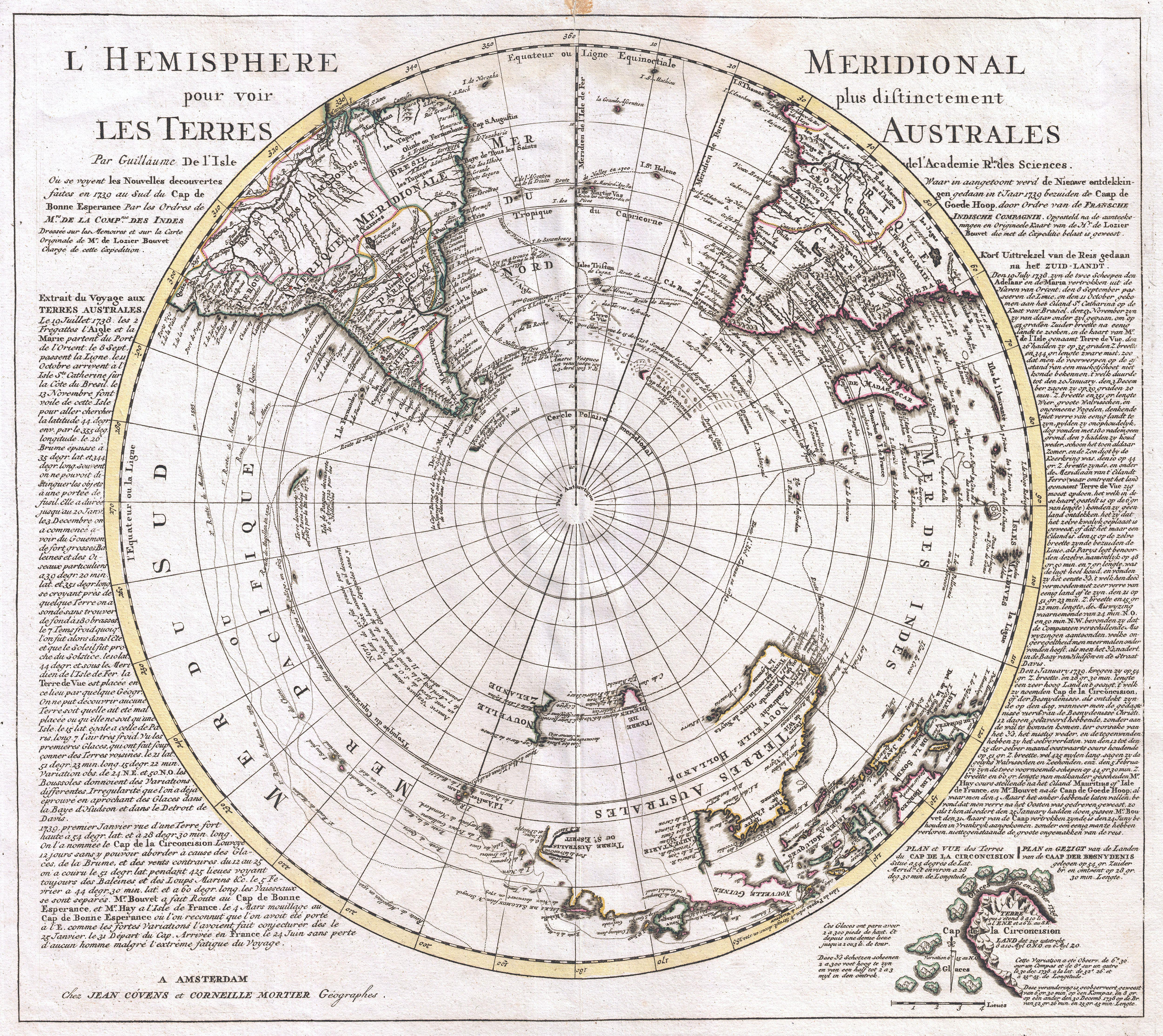 Map Of South Pole File:1741 Covens and Mortier Map of the Southern Hemisphere
