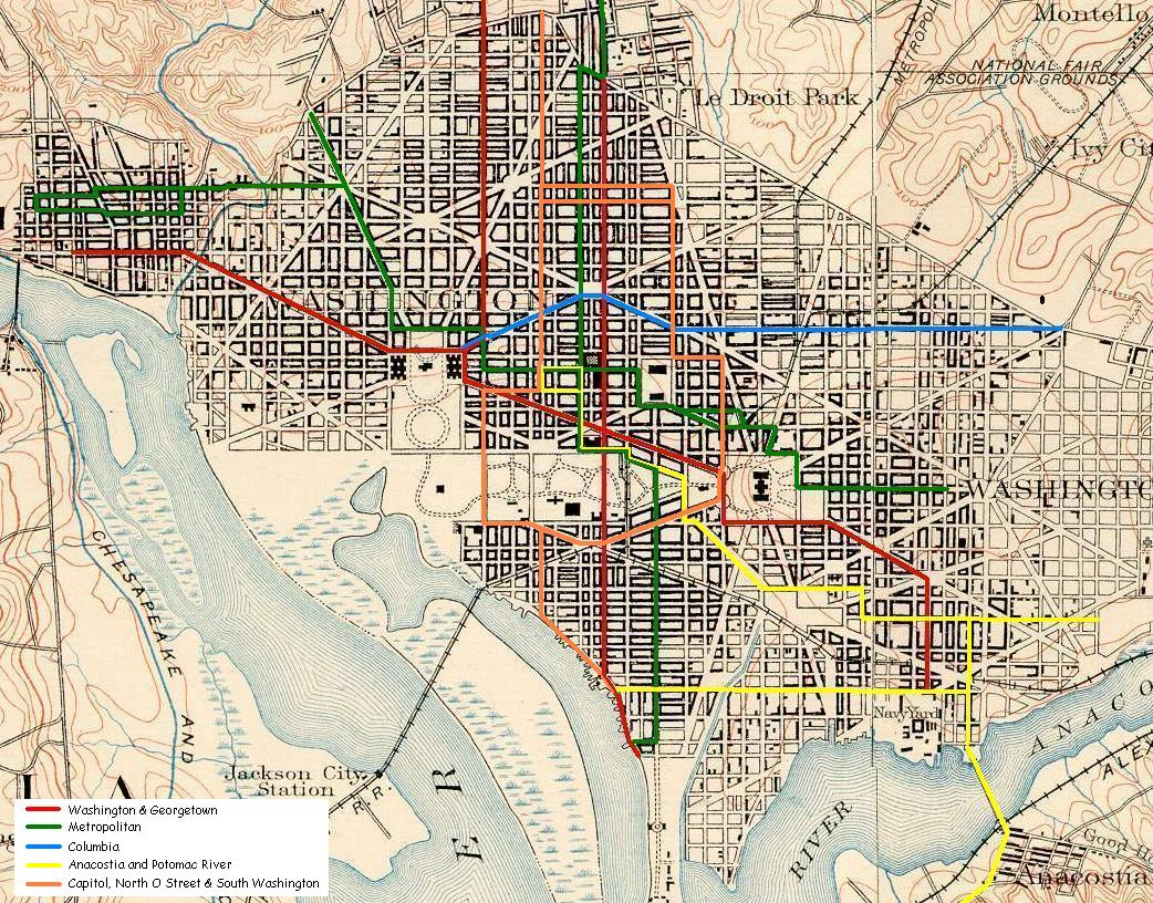 Washington DC Genealogy: Maps on
