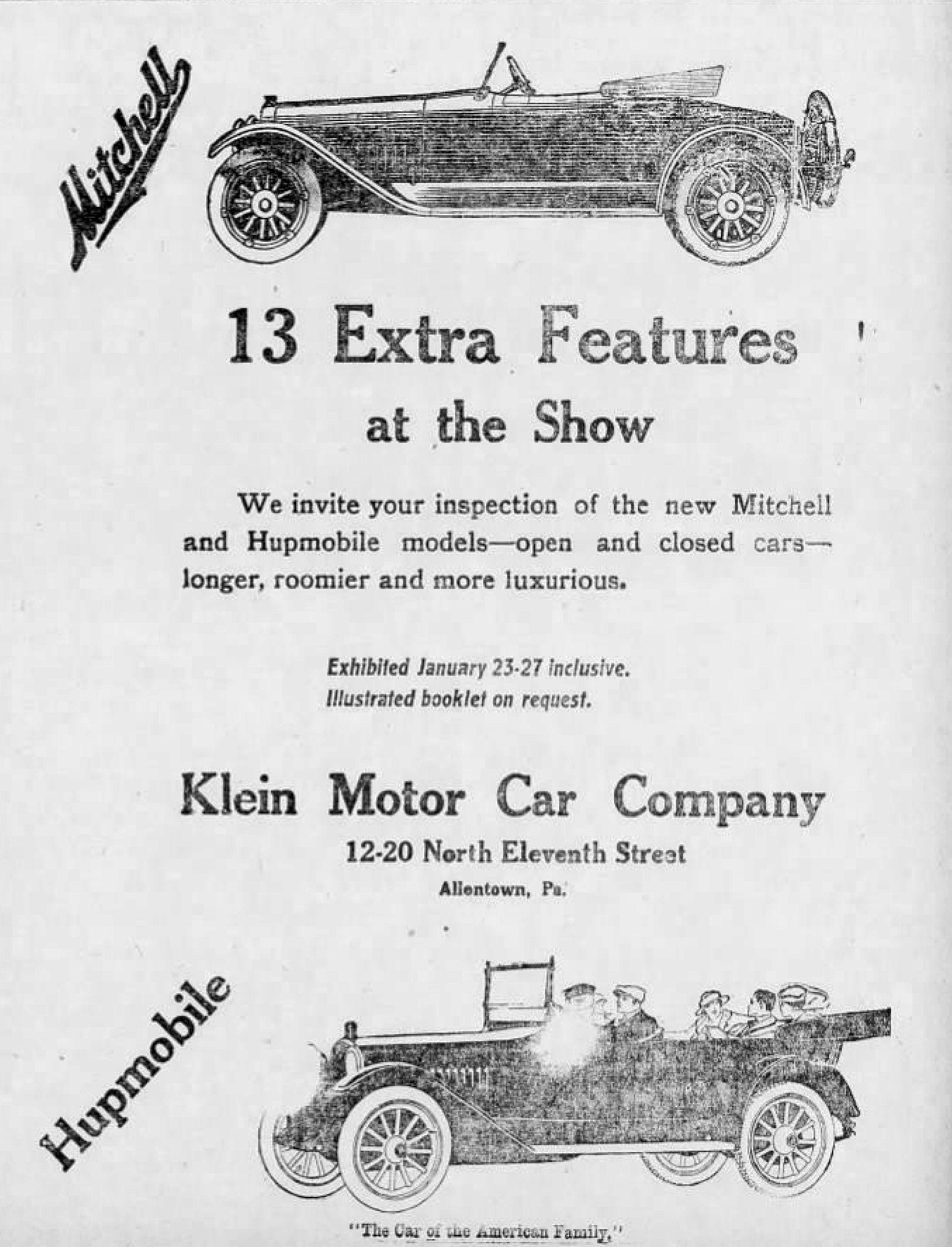 File Klein Motor Car Company Jan MC Allentown PAjpg - Car show allentown pa