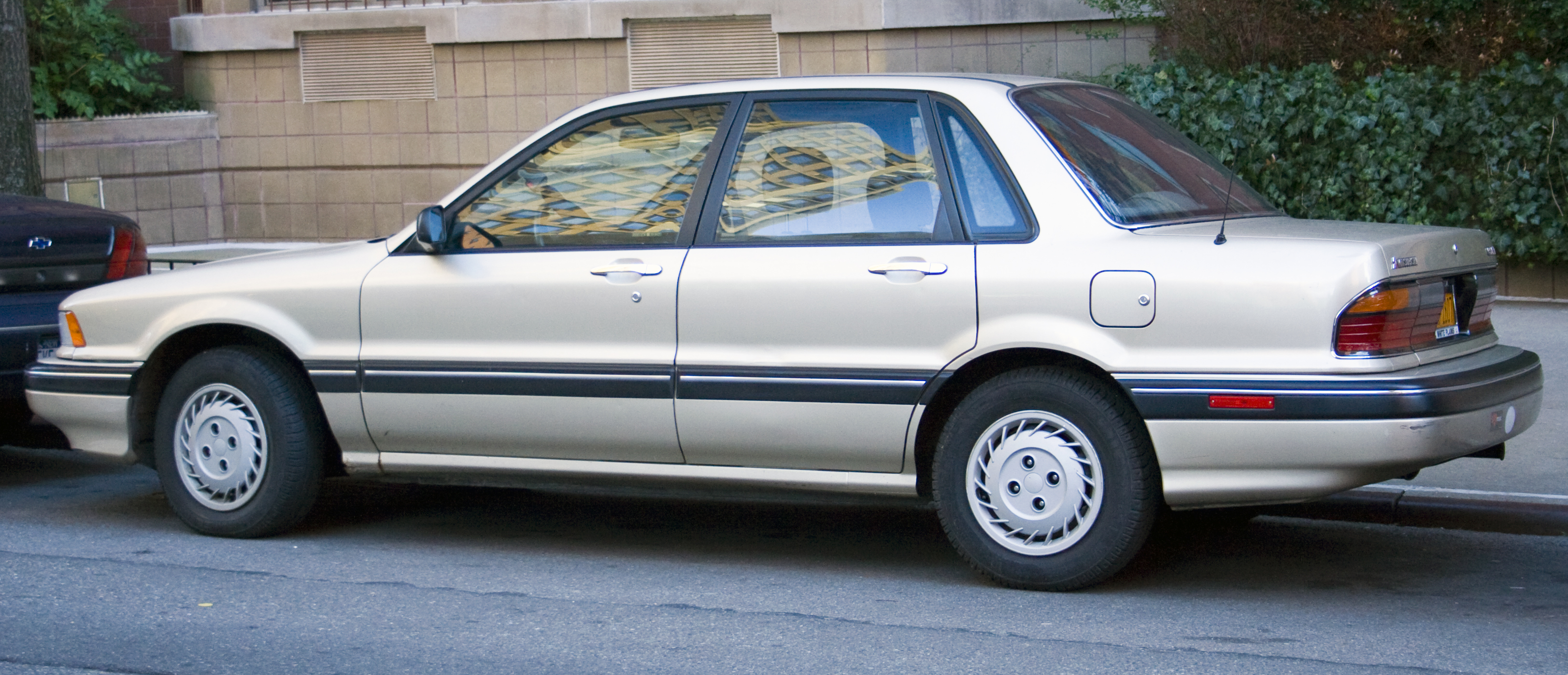 File:1990 Mitsubishi Galant rear.jpg - Wikimedia Commons