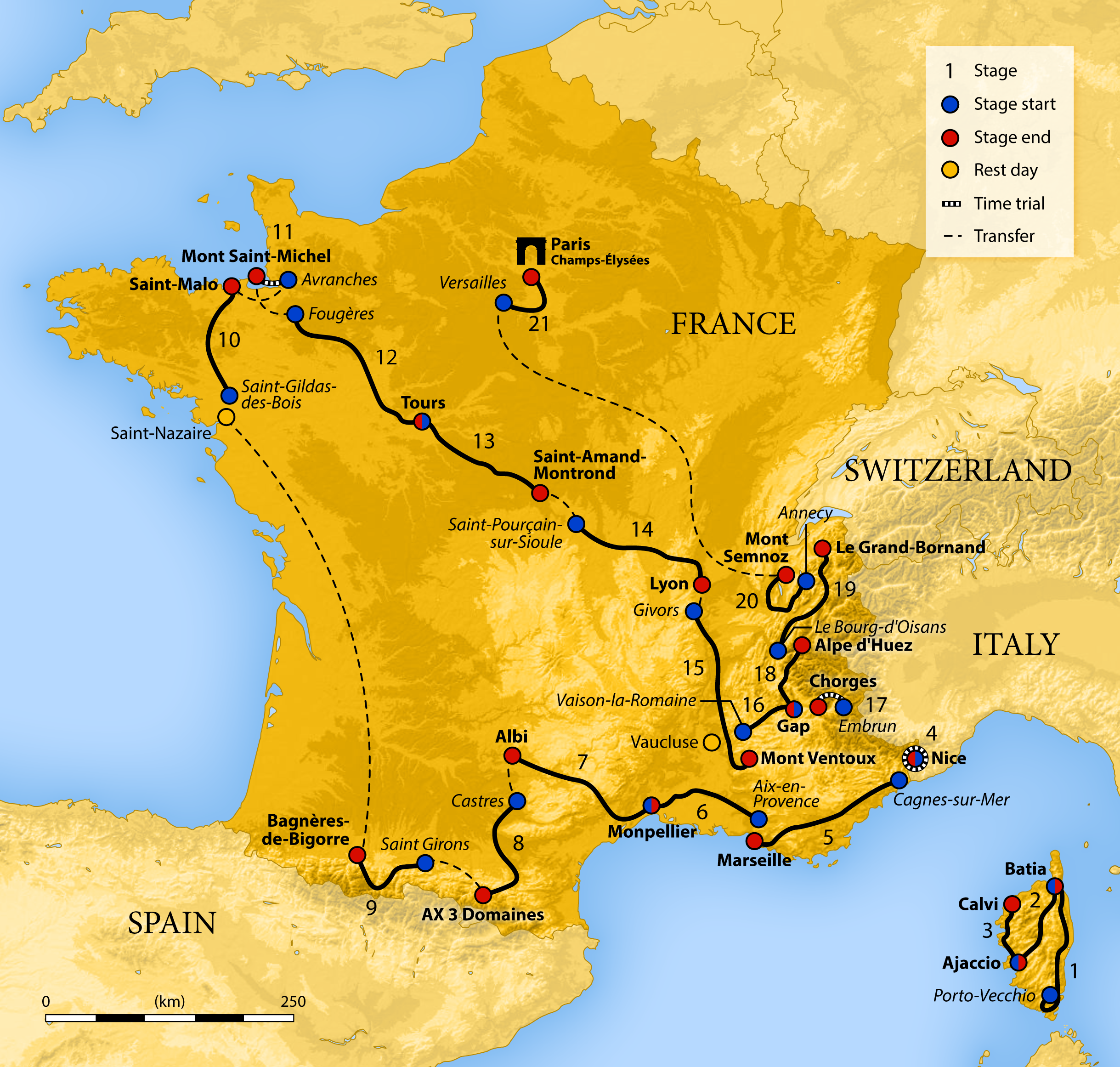 France Map Png.File 2013 Tour De France Map Png Wikimedia Commons
