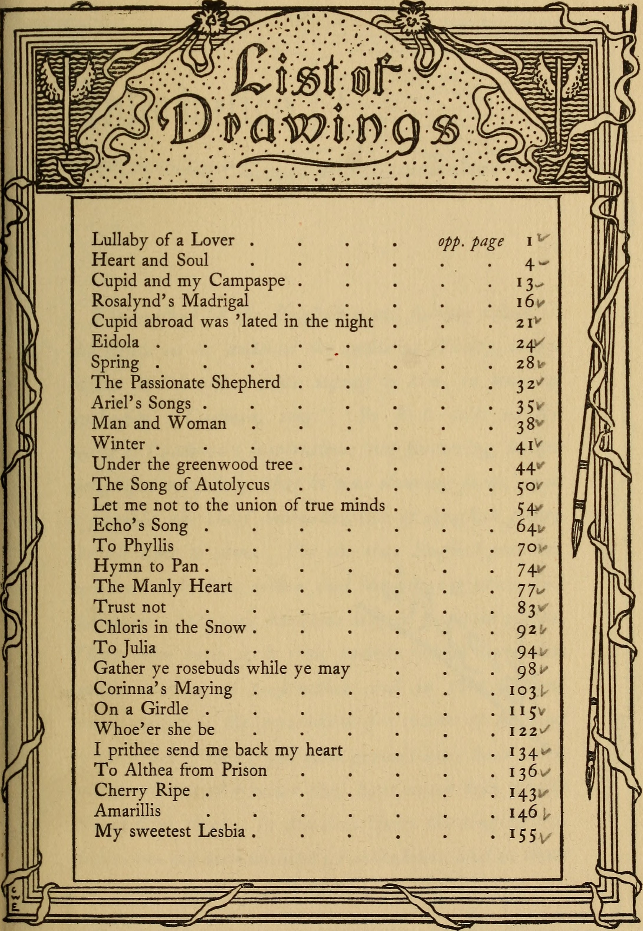 Old english love songs list