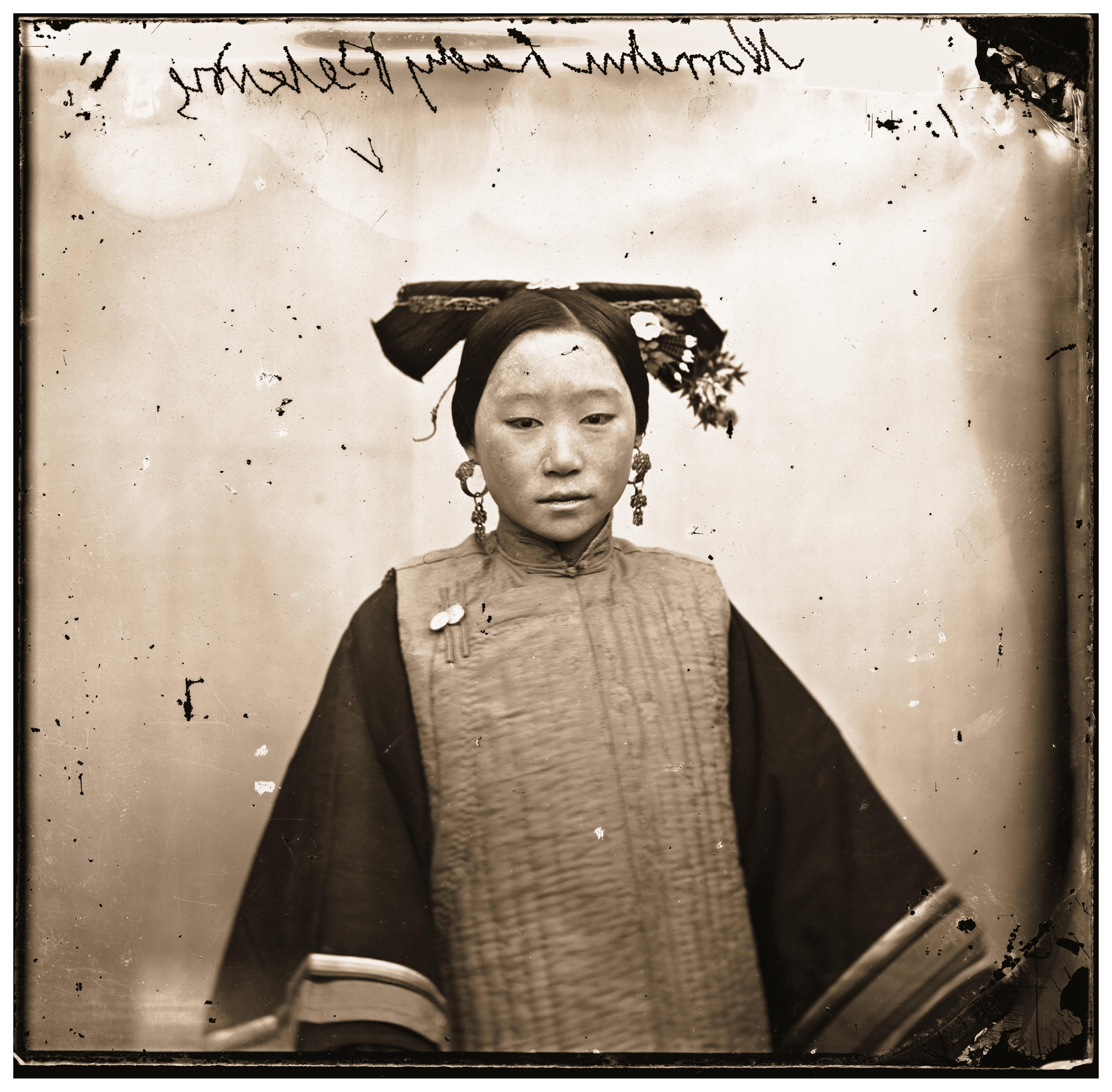 File A Manchu Lady Wearing A Coiffure John Thomson Wellcome