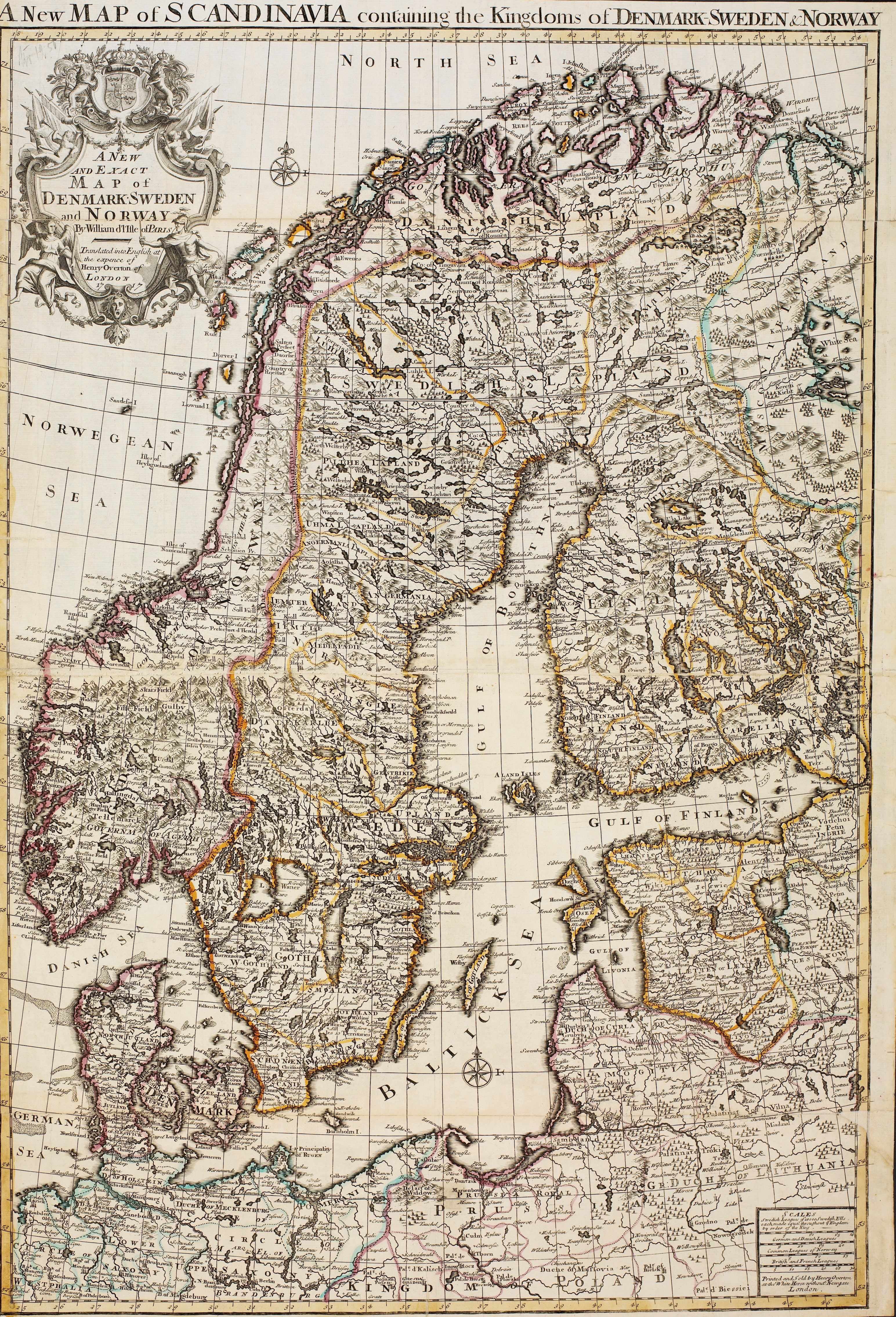 FileA New And Exact Map Of Denmark Sweden And Norway Nonb Krt - Norway map 2014