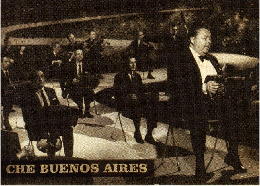 Aníbal Troilo y su orquesta. Fotografía en la tapa del álbum Che Buenos Aires (1969).