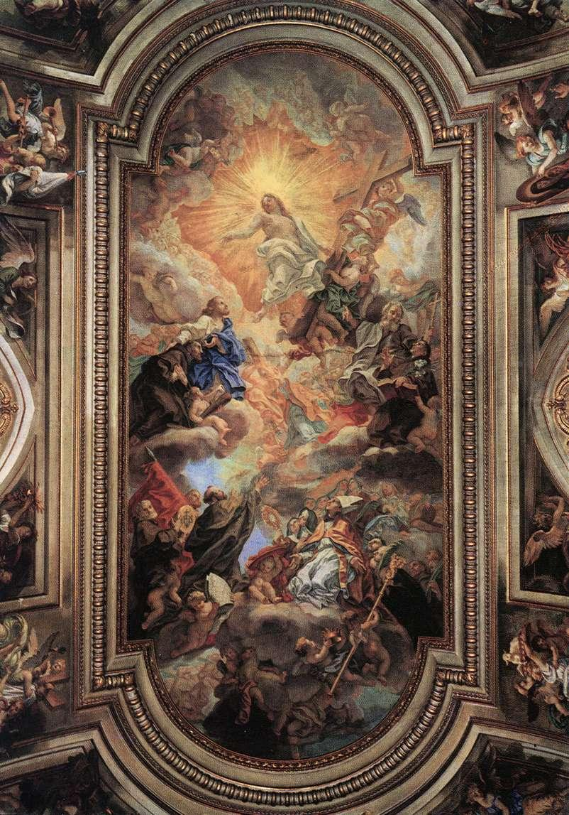 File baciccio apotheosis of the franciscan order for The franciscan