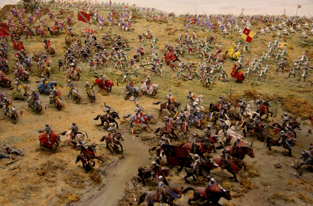 Description Battle of Bosworth Field diorama.jpg