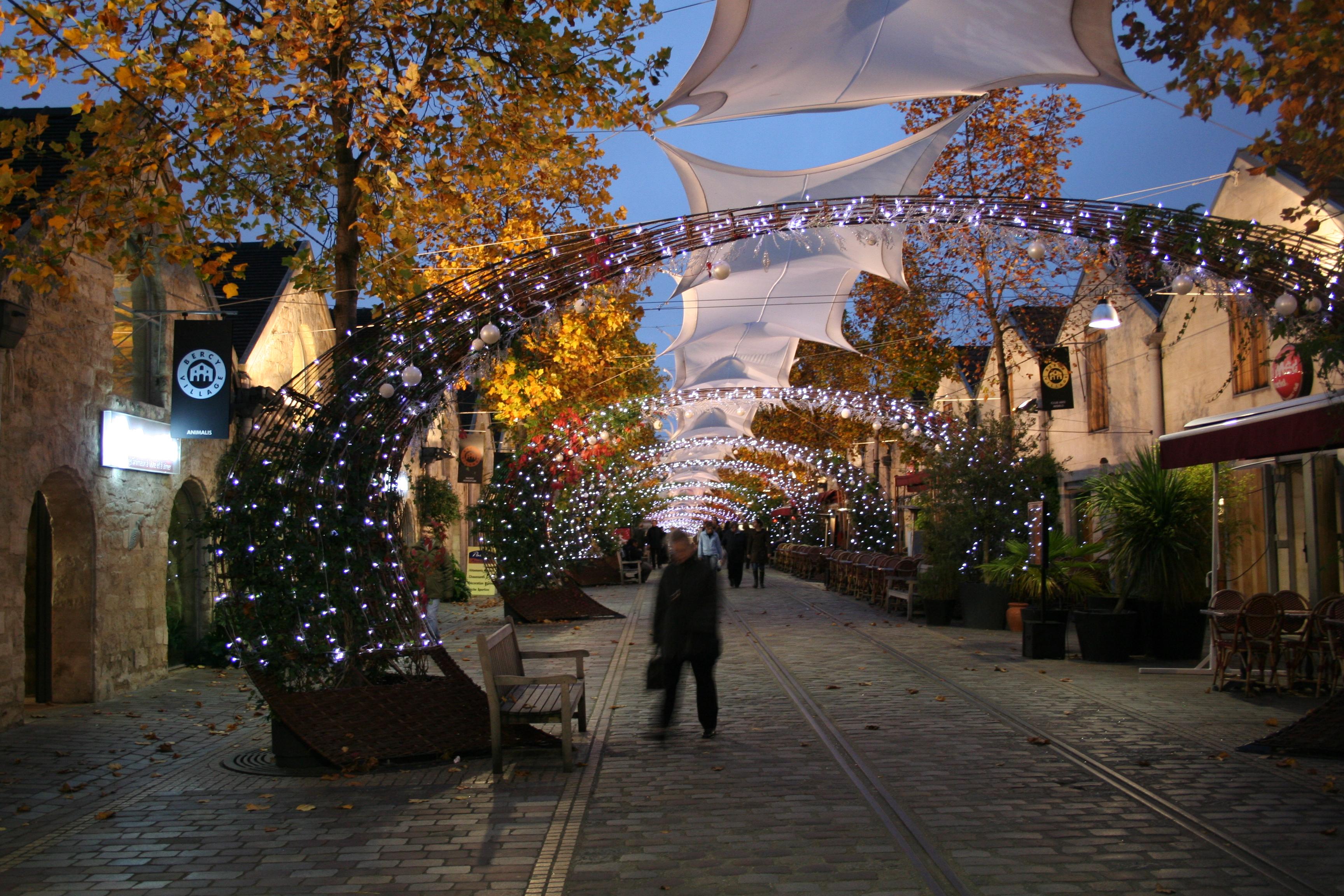 Village De Noel Decore En Poitou Charente