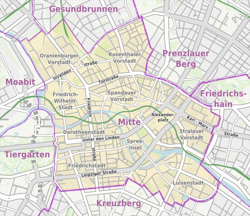 Berlin Mitte Karte
