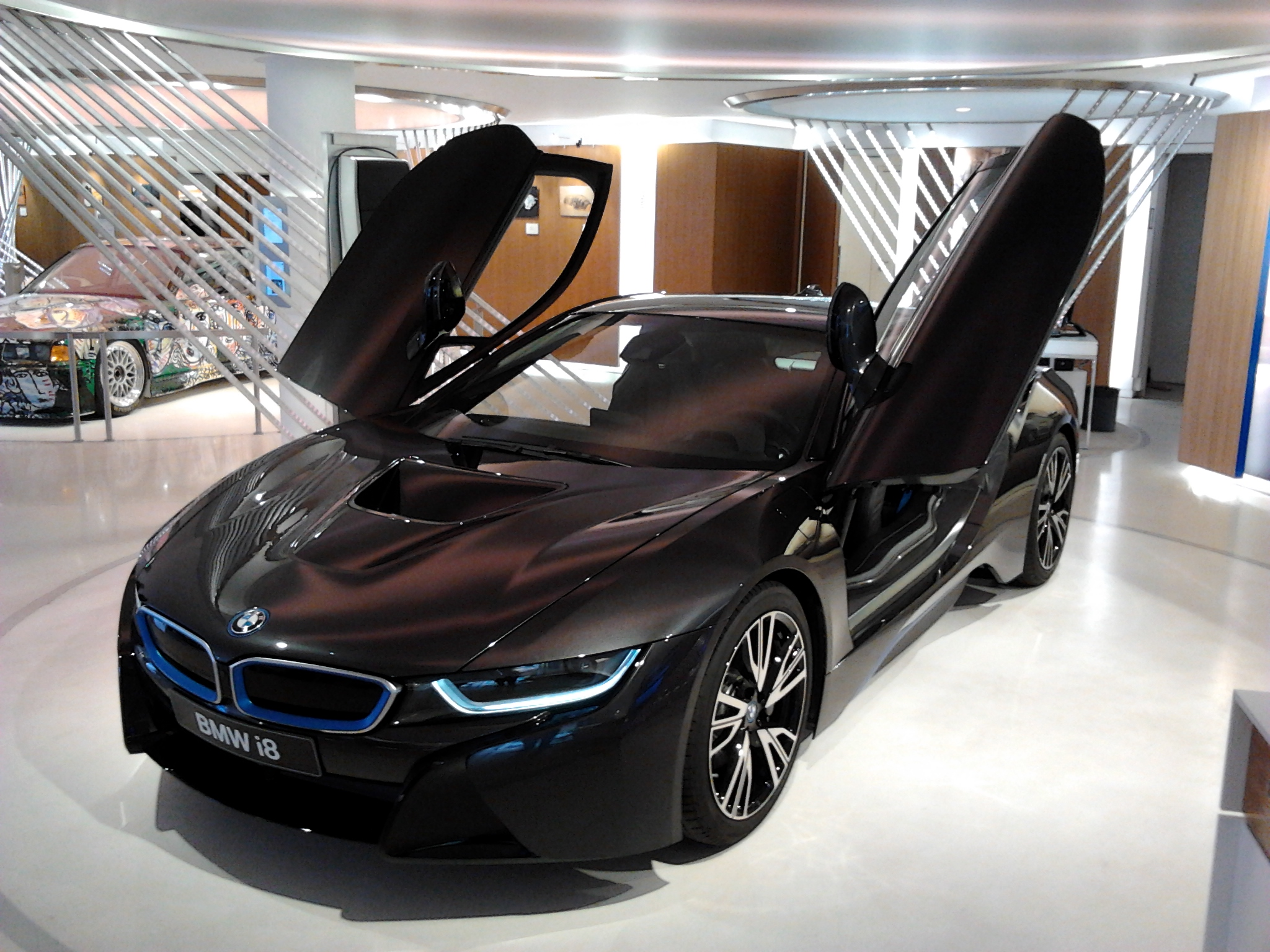 Bmw I8 Black And Blue 2016