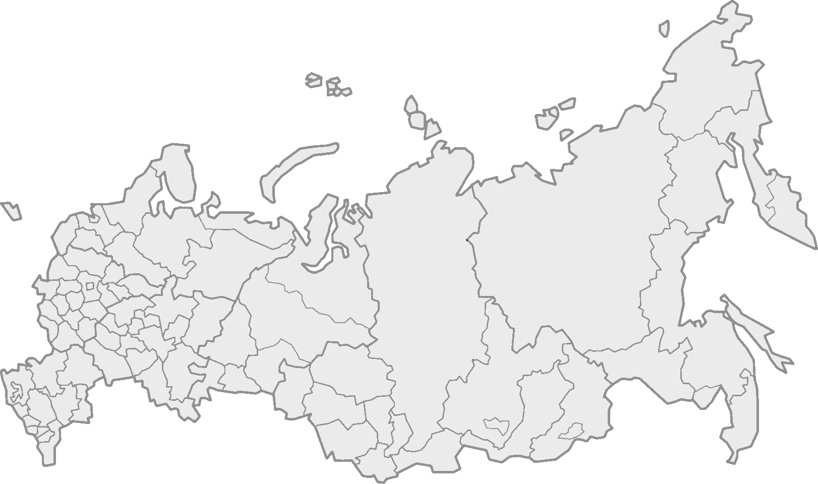Blank Map Of Russia - Map of russia