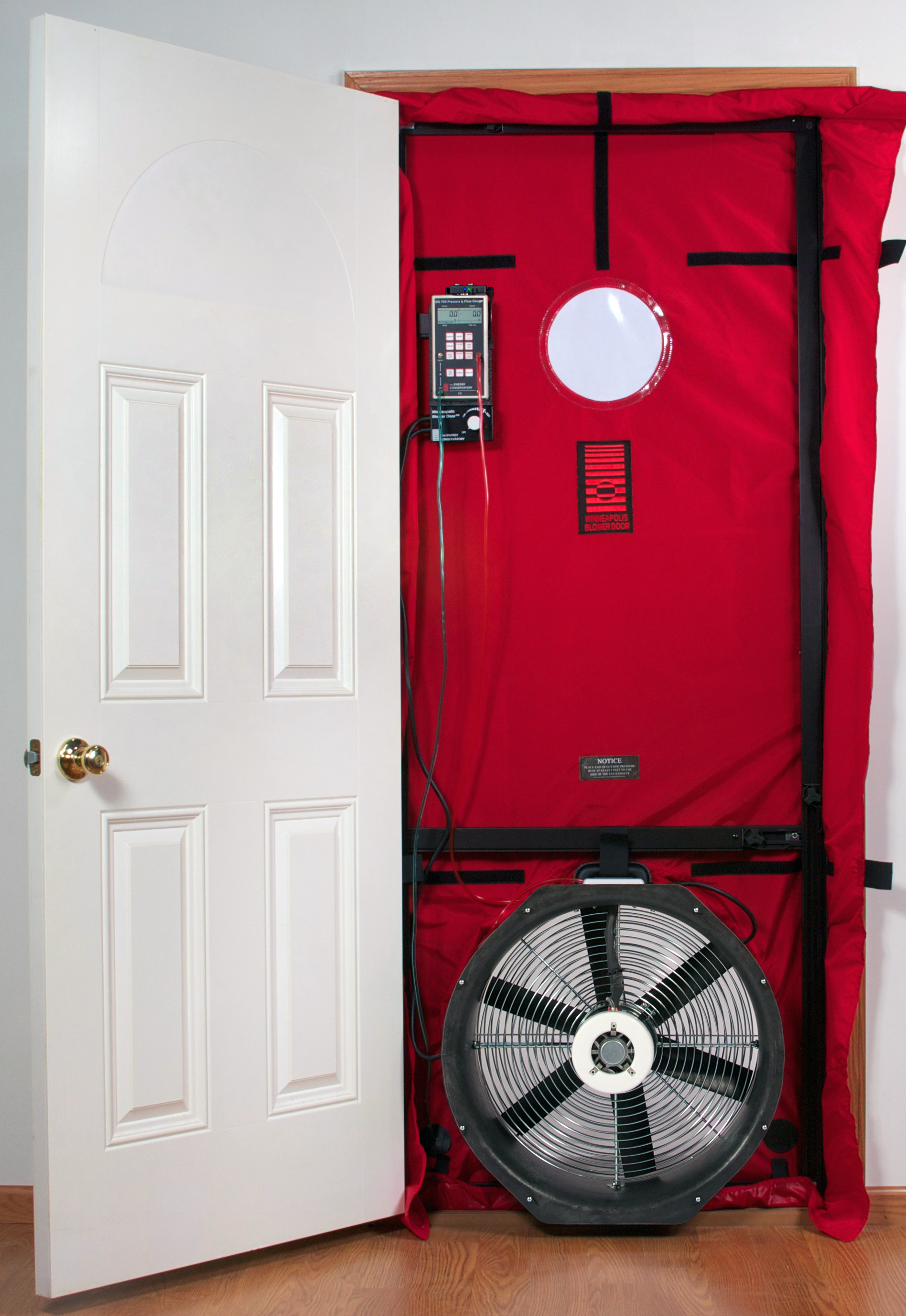 blower doors blower door test photo 1. Black Bedroom Furniture Sets. Home Design Ideas