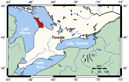 Bruce Peninsula National Park Of Canada Map Bruce Peninsula   Wikipedia