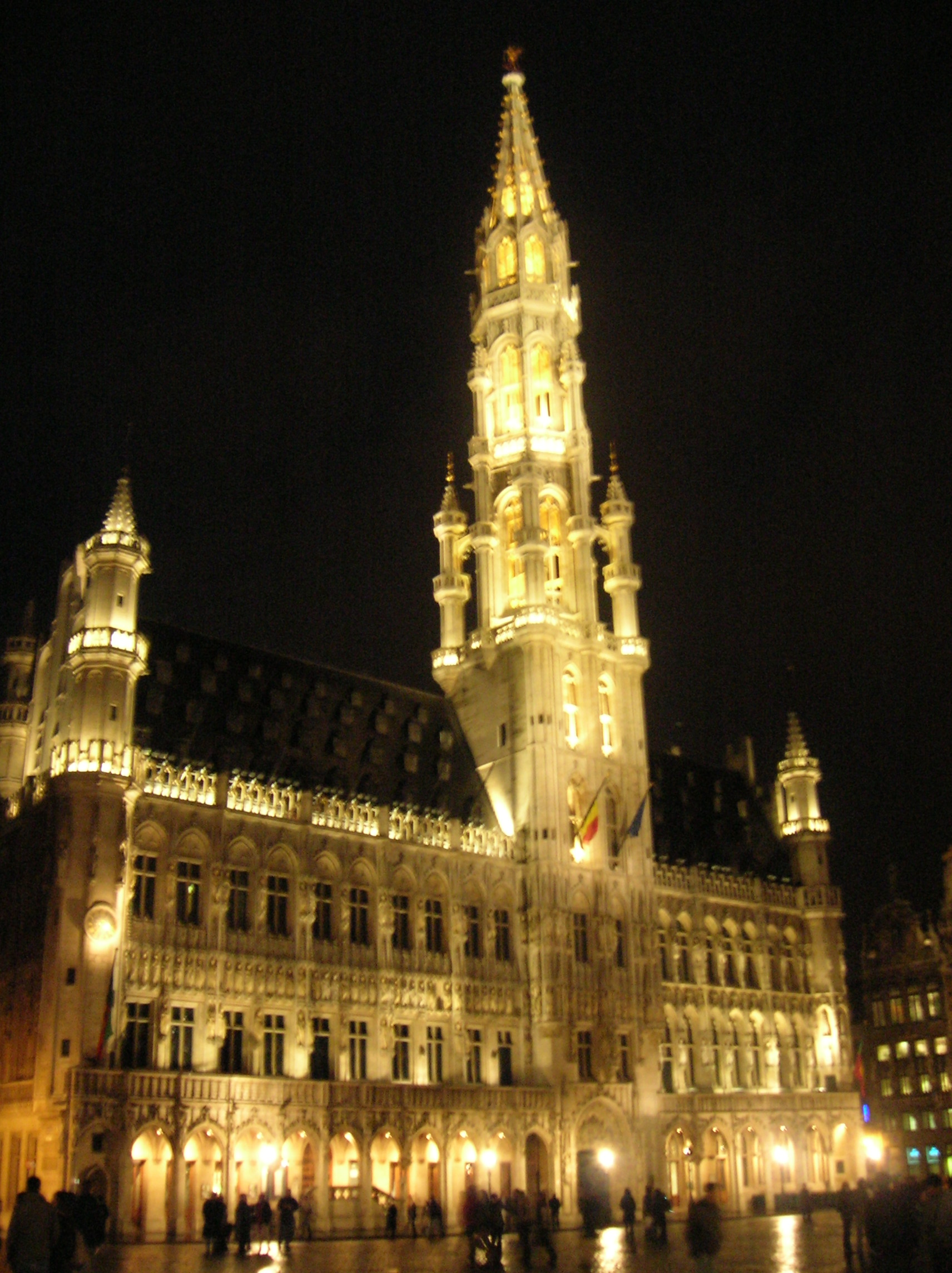 File:Brussels Town Hall by night.JPG - Wikimedia Commons