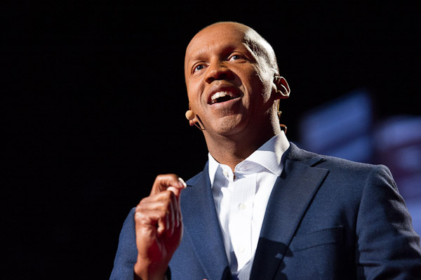 Bryan Stevenson delivering his TED Talk