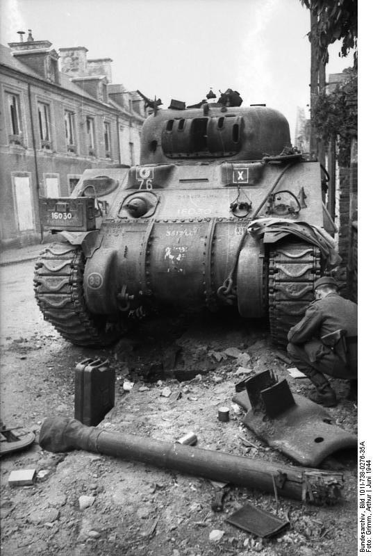 The Sherman as an OP tank carried a wooden gun