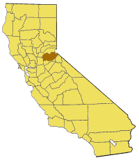 Map of California highlighting El Dorado County