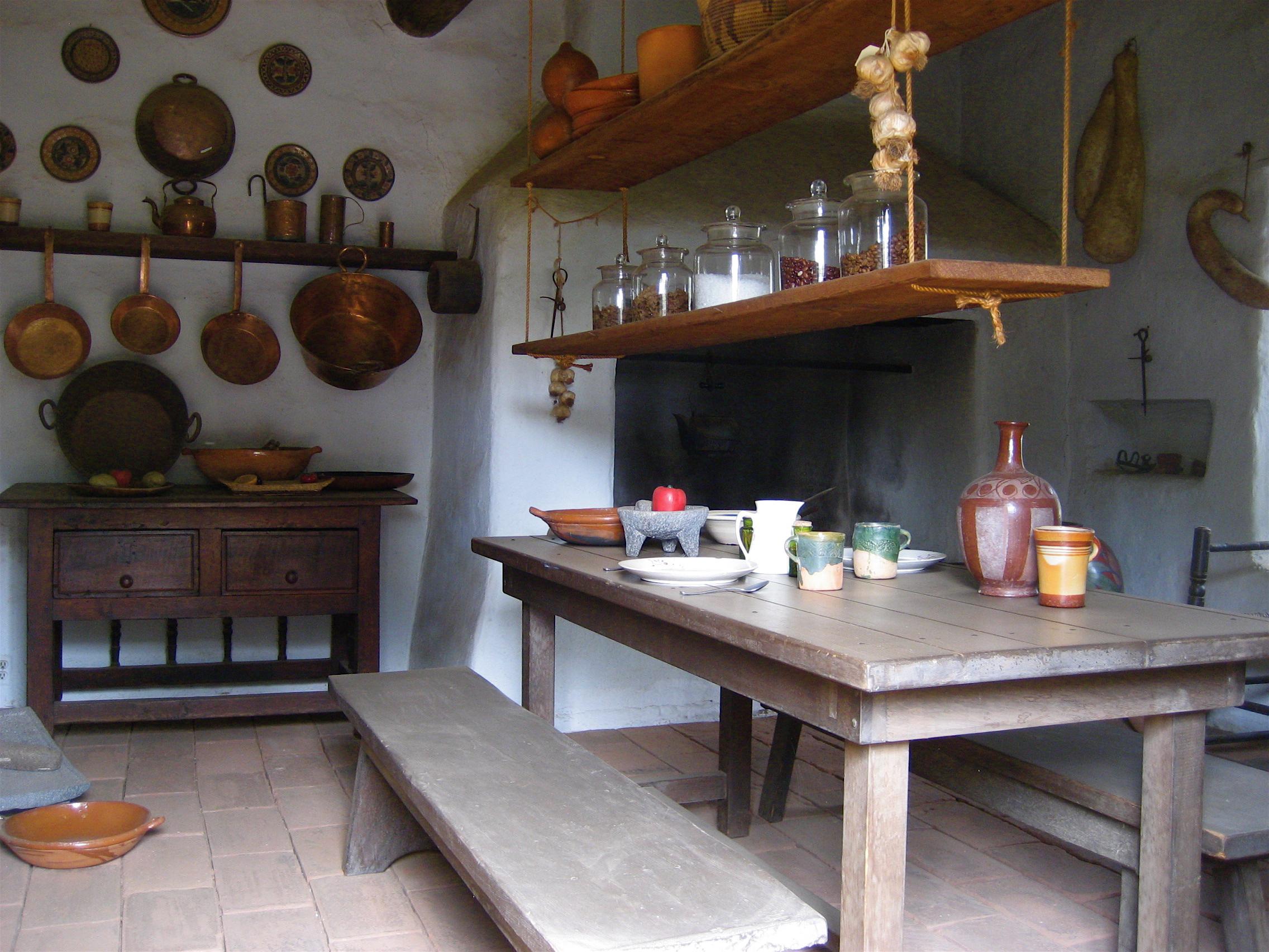 Archivo:Casa de Estudillo - kitchen.jpg - Wikipedia, la enciclopedia ...