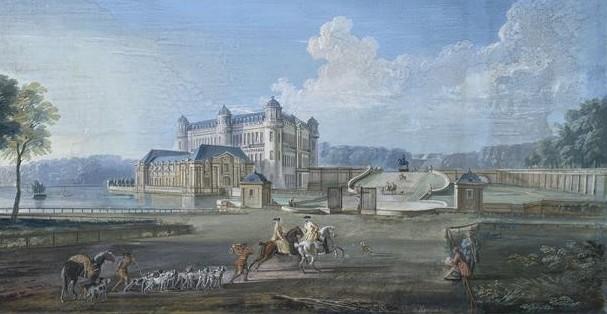 Πύργος του Σαντιγί τον XVIII αιώνα, Jean-Baptiste Lallemand, Μουσείο Condé
