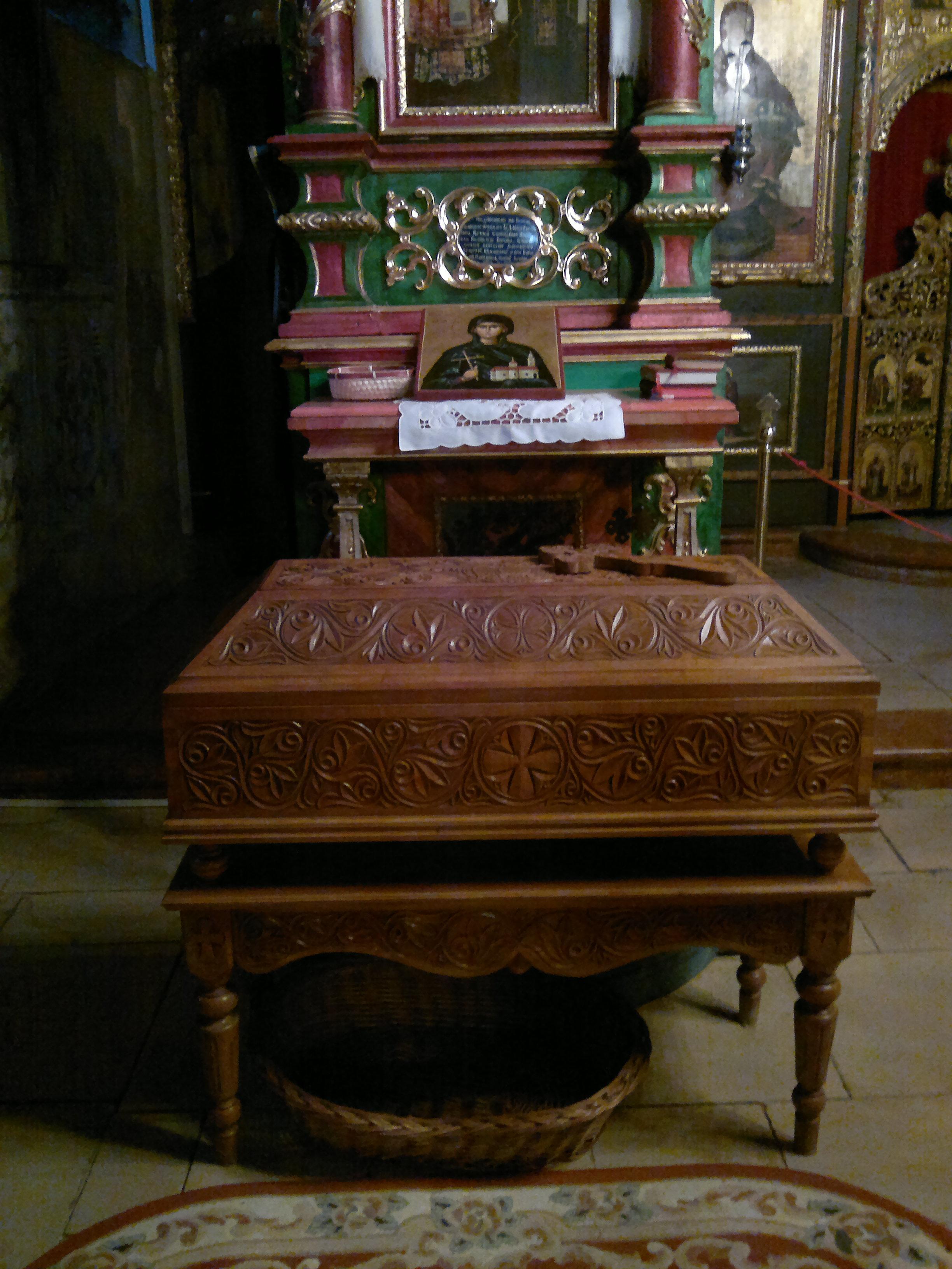 Relikvieskrin med Angelinas relikvier i klosteret Krušedol