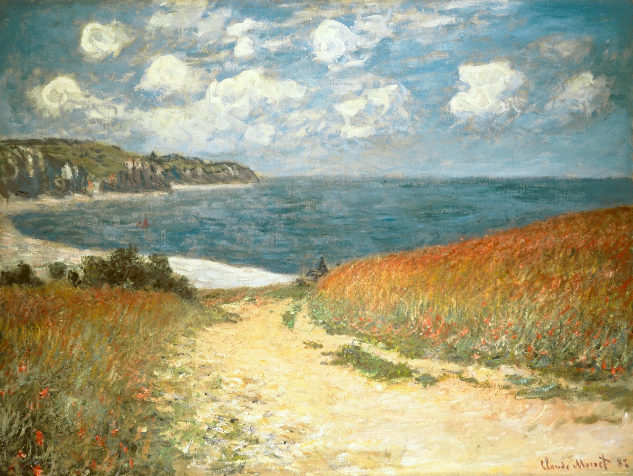 1b120bd3060 File Claude Monet - Chemin dans les blés à Pourville (1882).jpg ...