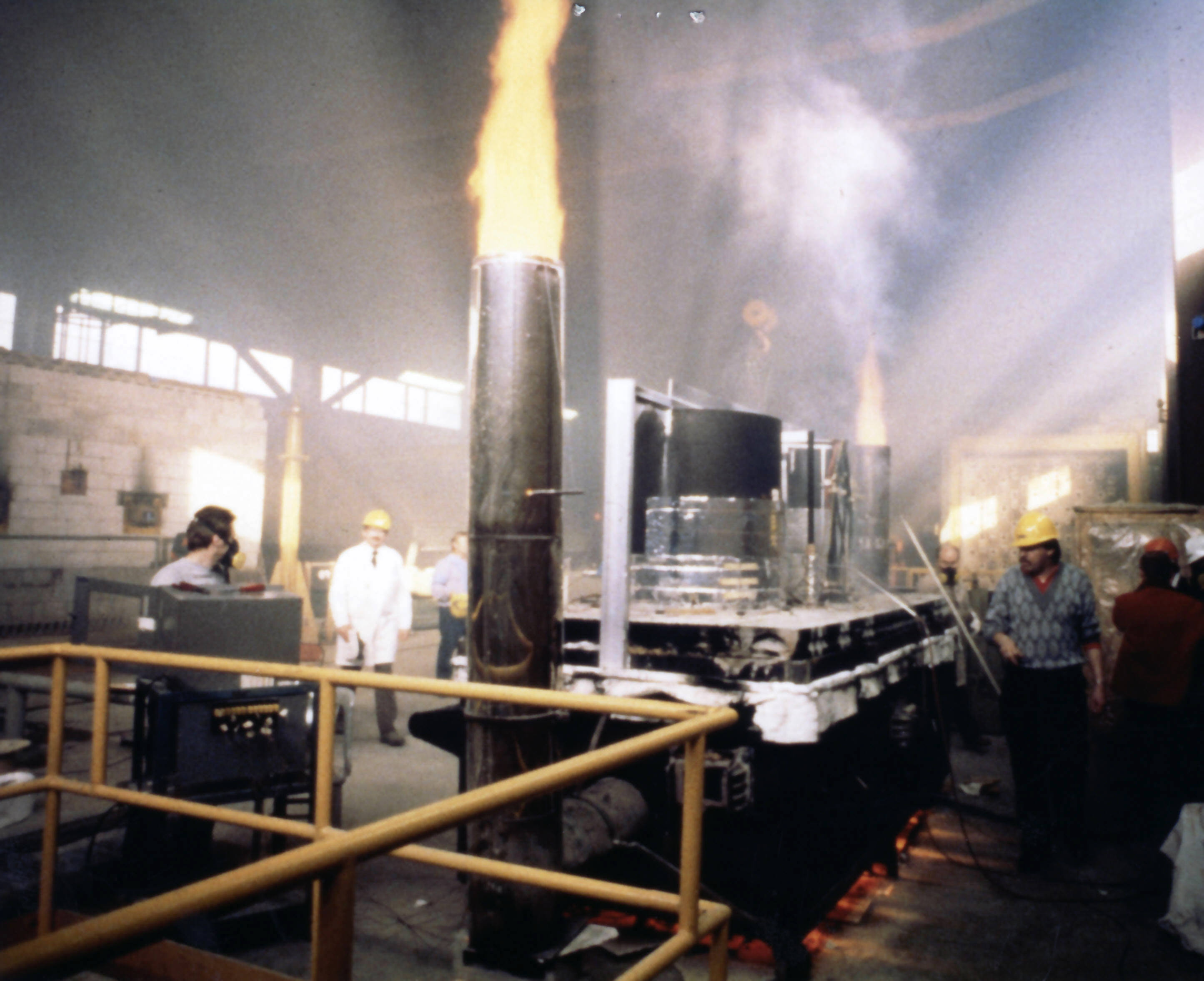 Brandprüfung zur Erlangung einer Feuerwiderstandsklasse für Abschottungssysteme in Kanada.